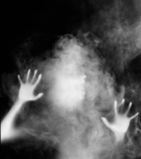 ghost in the mist - horror stock pictures, royalty-free photos & images