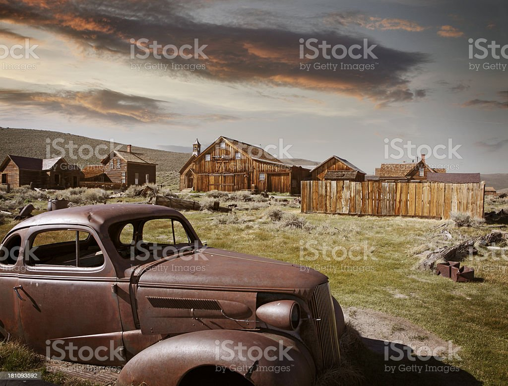 Ghost mining town Bodie stock photo