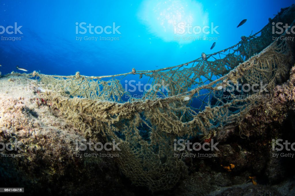 Ghost nets stock photo
