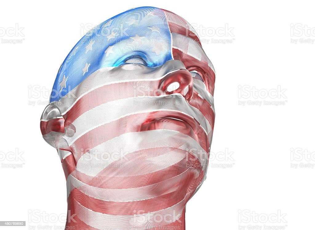 Ghost of the fallen american stock photo