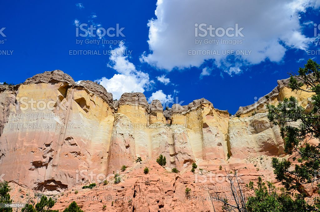 Ghost Ranch Abiquiu Cliff Formation stock photo