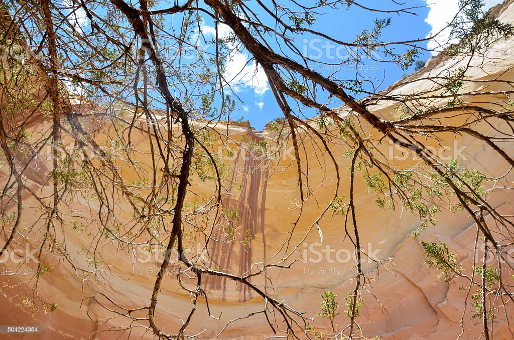 Ghost Ranch  Echo Canyon Amphitheater stock photo