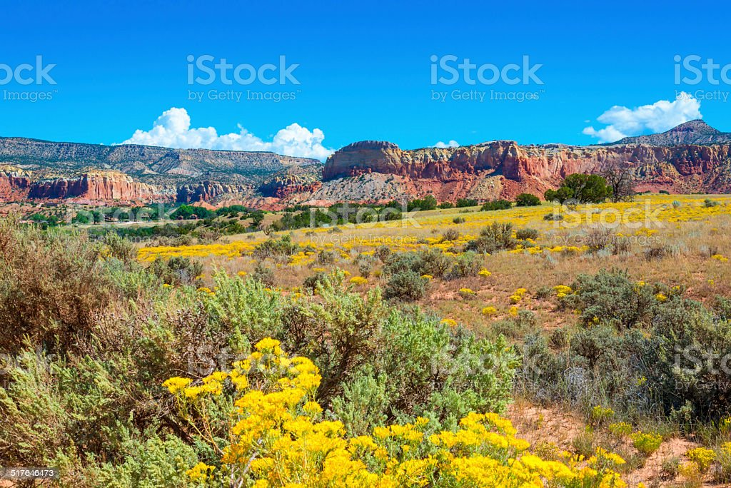 Ghost Ranch Red Rocks stock photo