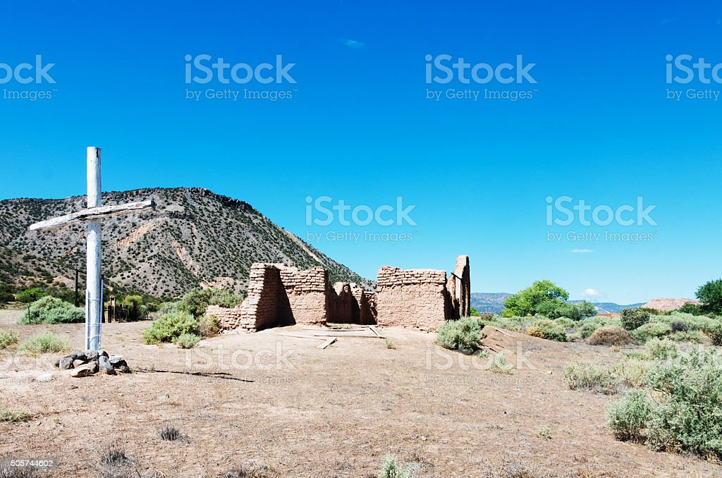 Ghost Ranch Santa Rosa de Lima stock photo