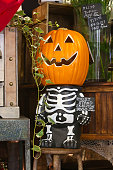 Ghost Stand Skelton Halloween Decoration Displayed for Sale