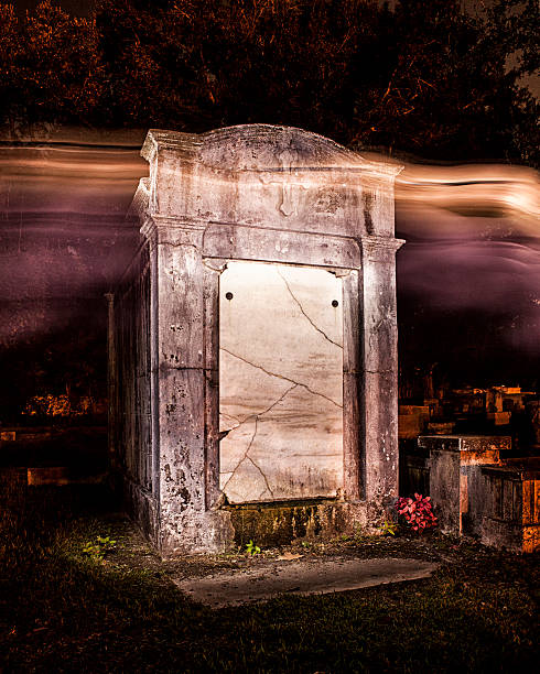 Ghost tomb stock photo