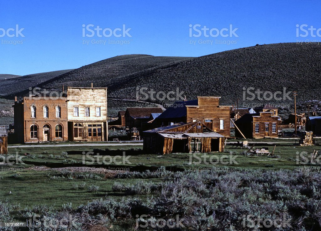 Ghost Town, Bodie, California stock photo