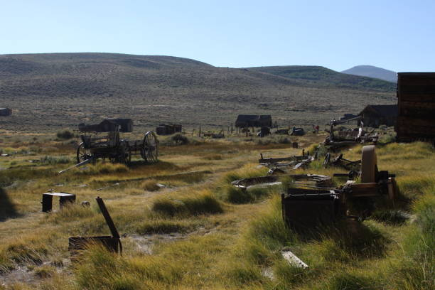 Ghost town Bodie stock photo