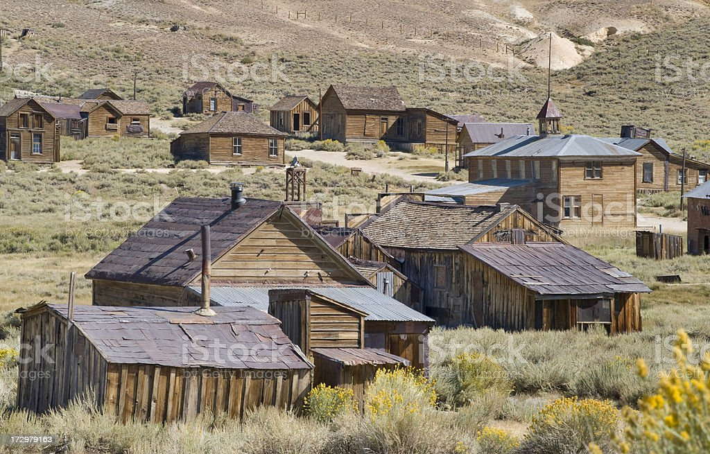 Ghost Town, Bodie State Park, California stock photo