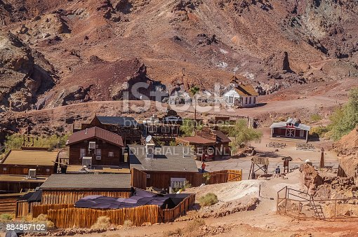 OCTOBER, 14. 2015- Calico, California, USA: Calico is a ghost town in San Bernardino County, California, United States. Was founded in 1881 as a silver mining town. Now it is a public park.