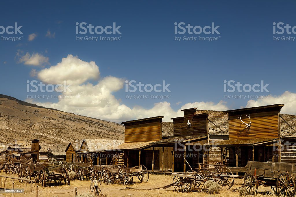 Ghost Town Carriages In Wild West USA stock photo