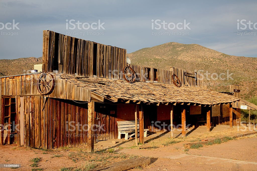 Ghost town general store royalty-free stock photo