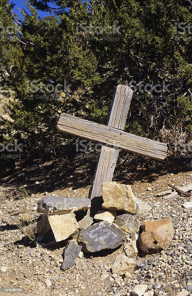Ghost Town Grave royalty-free stock photo