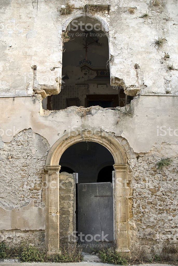 Ghost Town in Sicily royalty-free stock photo