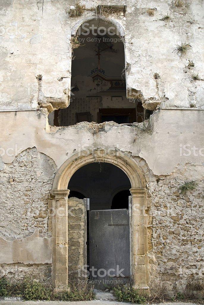 Città fantasma in Sicilia foto stock royalty-free