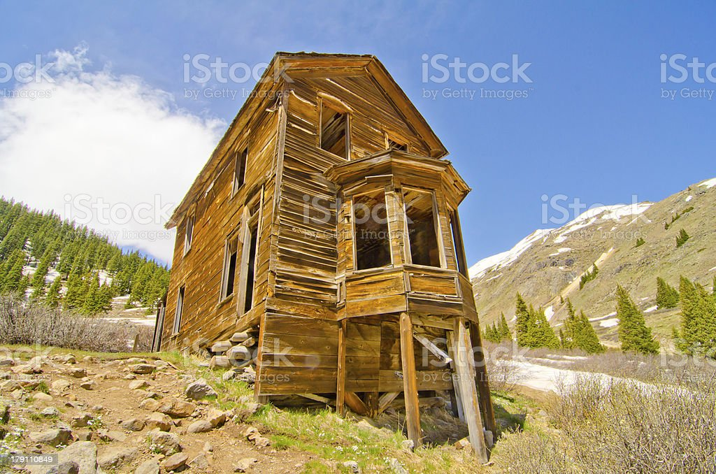 Ghost Town in the San Juan Mountains of Colorado royalty-free stock photo