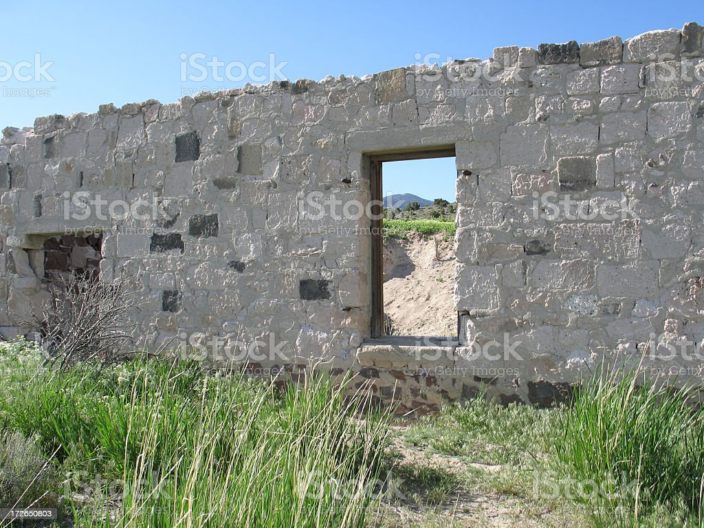 Ghost town Insider royalty-free stock photo