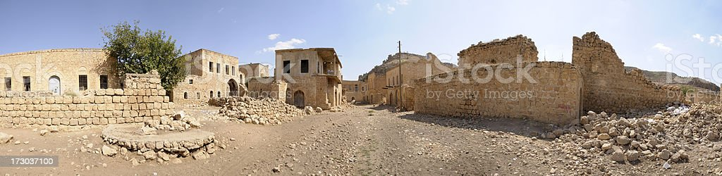 Ghost Town Killit, Mardin, Turkey royalty-free stock photo