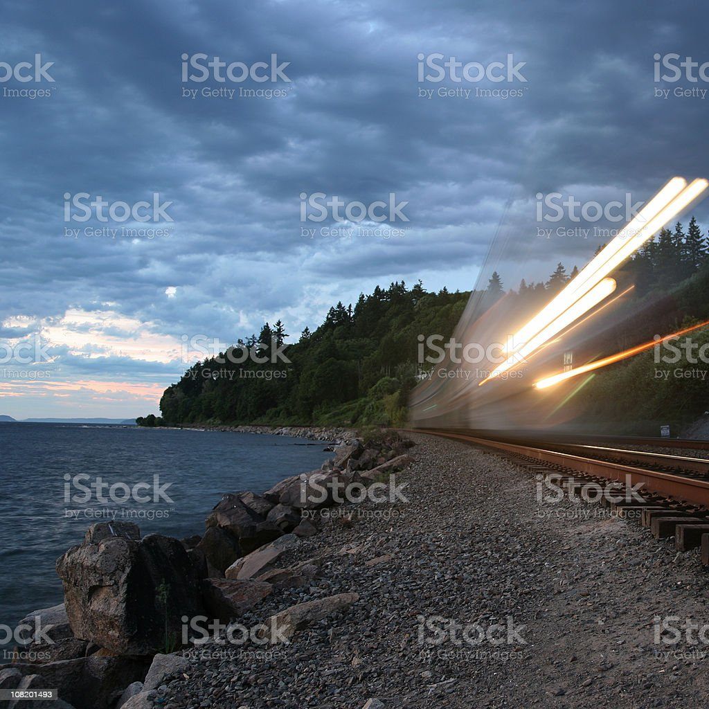 Ghost Train royalty-free stock photo