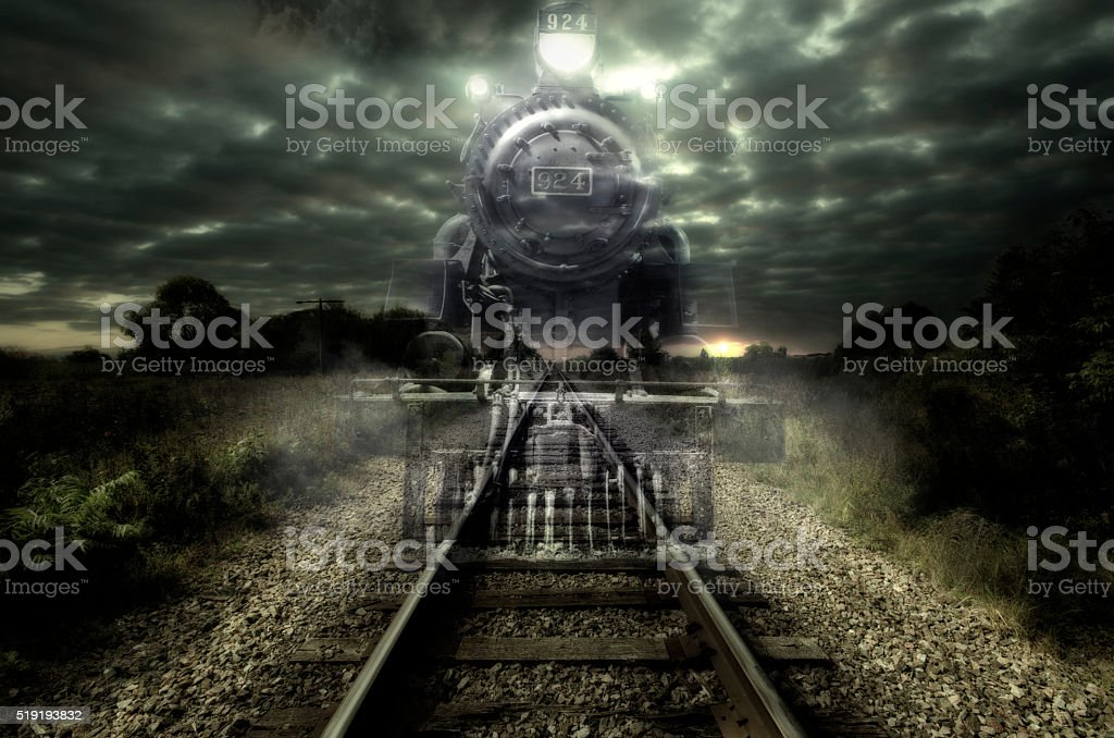 Ghost train stock photo