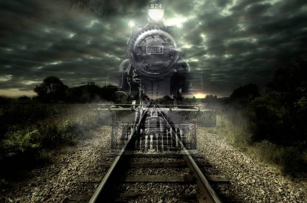 ghost train - lokomotive stock-fotos und bilder