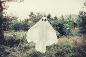 Ghost walking in the forest