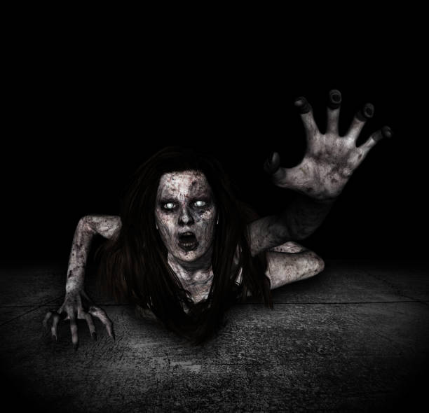 ghost woman - demon stock photos and pictures