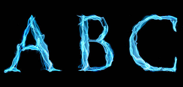 Blue Flame Font Stock Photos, Pictures & Royalty-Free Images