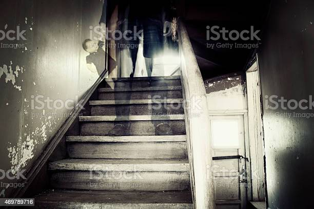 Ghostly Figure In A Hounted House Stock Photo - Download Image Now
