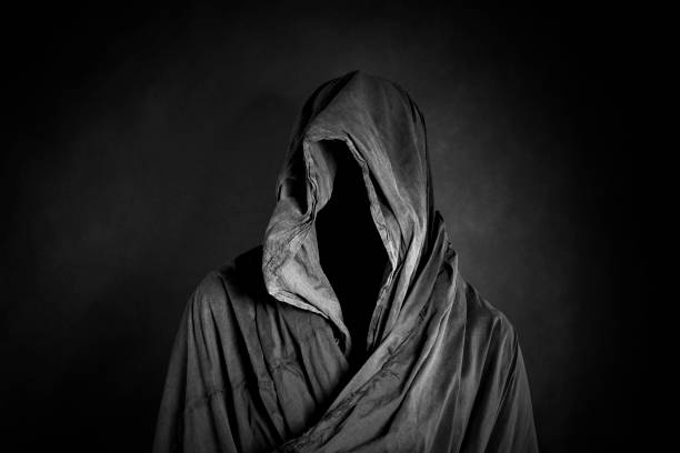 Ghostly figure in the dark stock photo