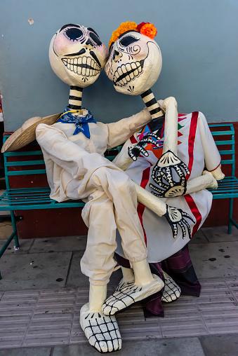 Ghostly Figures for the Día de los Muertos Festival in Oaxaca, Mexico