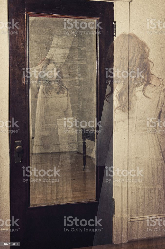 Ghostly reflection in the mirror - I royalty-free stock photo