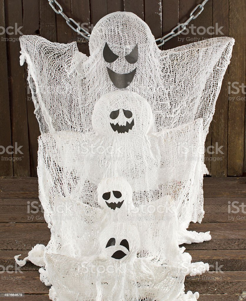 Ghosts family royalty-free stock photo