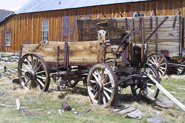 Ghost-Town Wagon stock photo