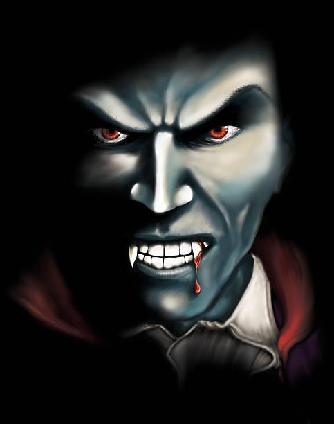 schaurige vampir digitale illustration - graf dracula stock-fotos und bilder