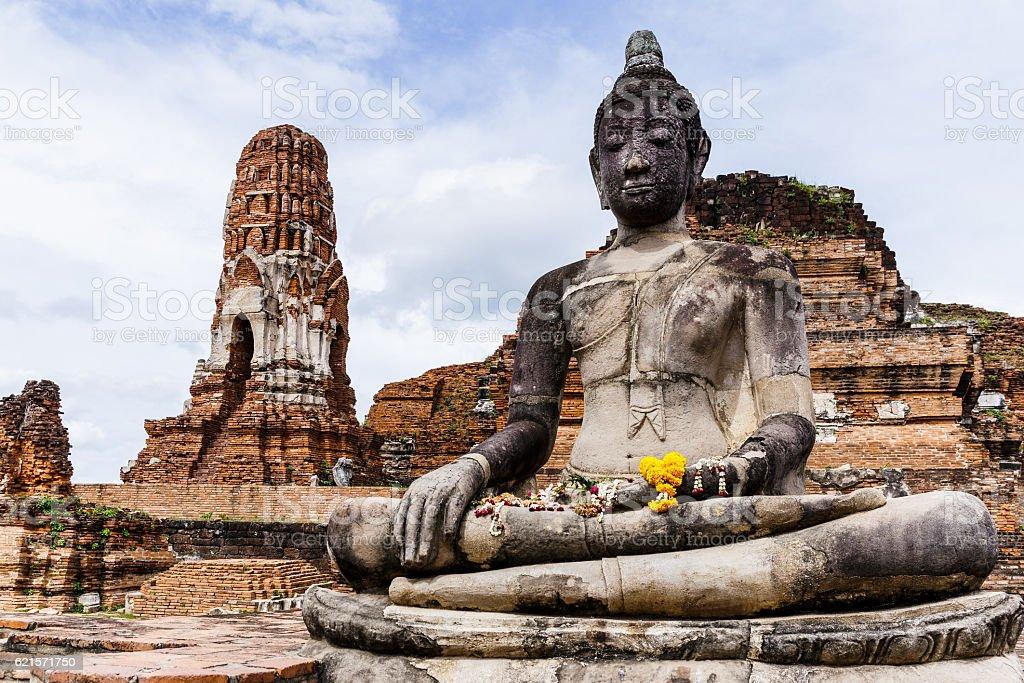 Giant ancient Buddha statue photo libre de droits
