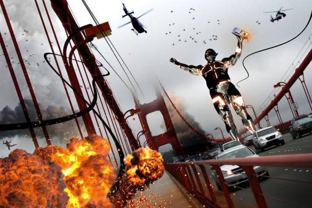 Riesenangriff auf Golden Gate Bridge – Foto