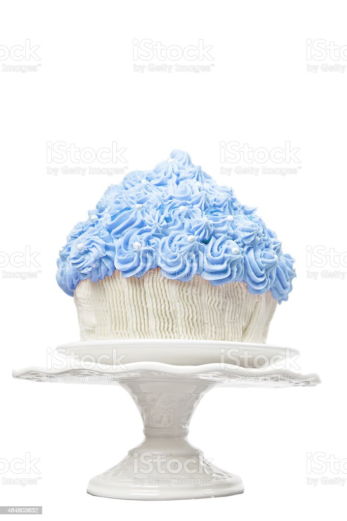 Giant Blue Cup Cake stock photo