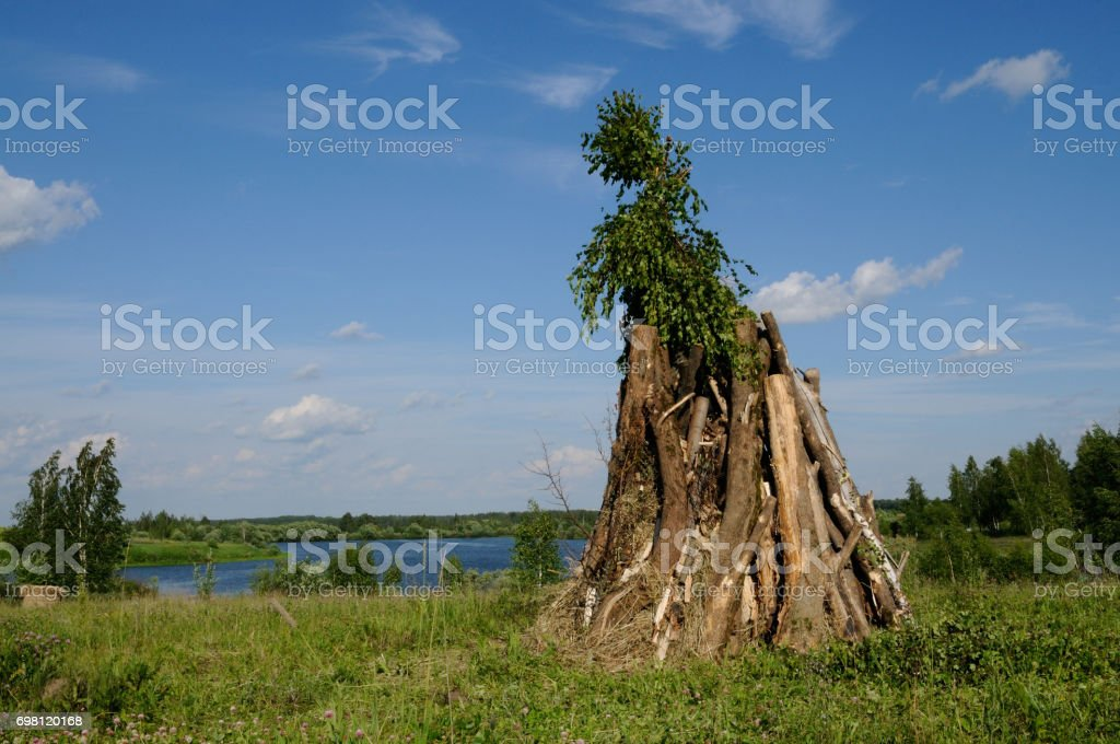 Giant bonfire stock photo