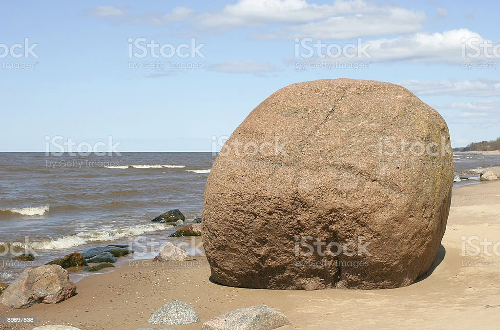 Giant boulder royalty-free stock photo