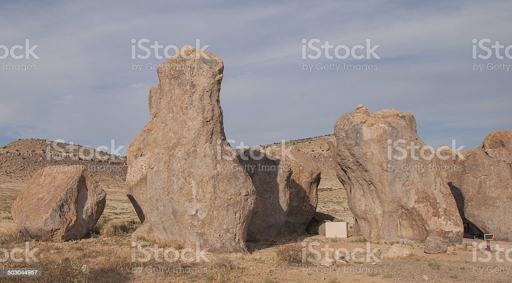 Giant Boulders in the Desert. royalty-free stock photo