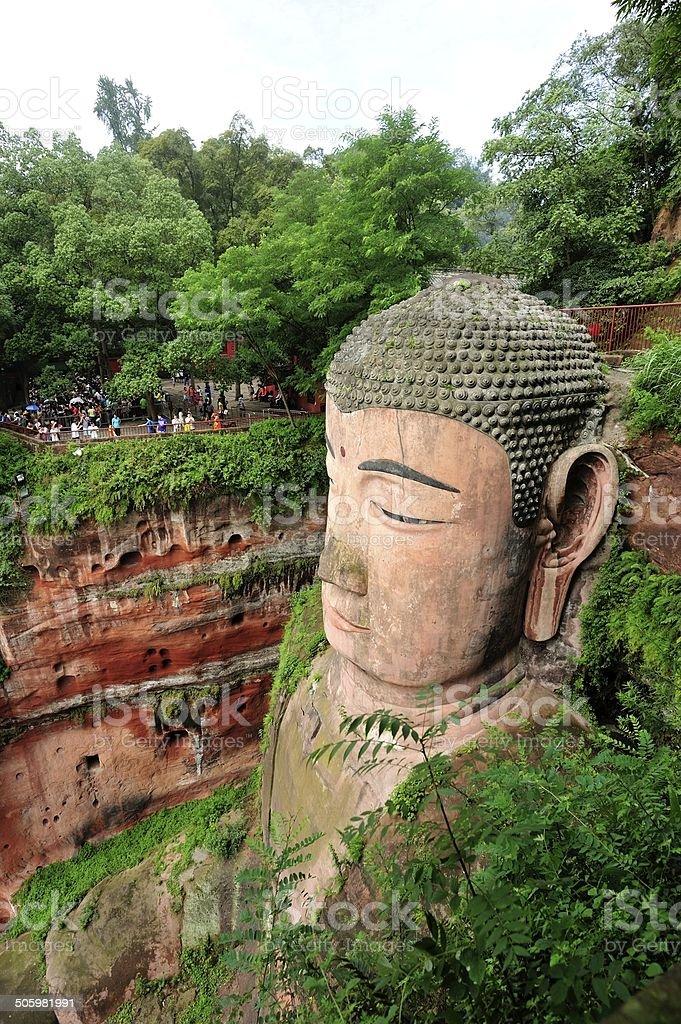 Giant buddha in leshan,sichuan,china stock photo