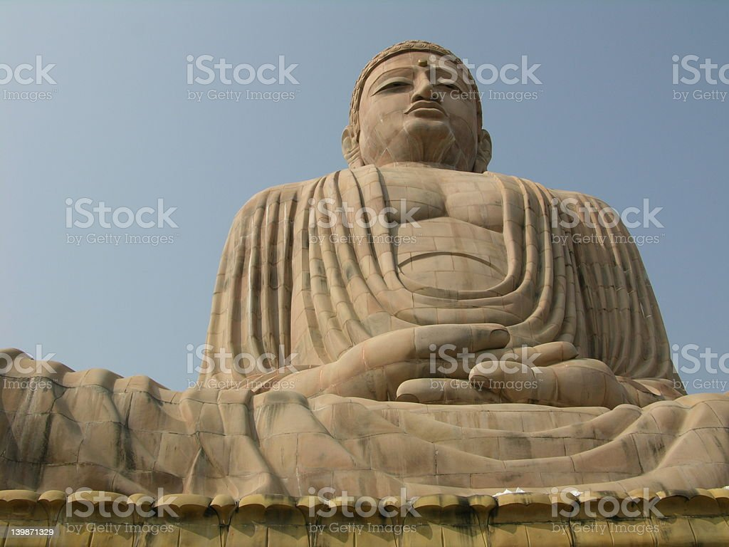 Giant Buddha royalty-free stock photo