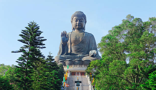 Giant Buddha Giant Buddha new territories stock pictures, royalty-free photos & images