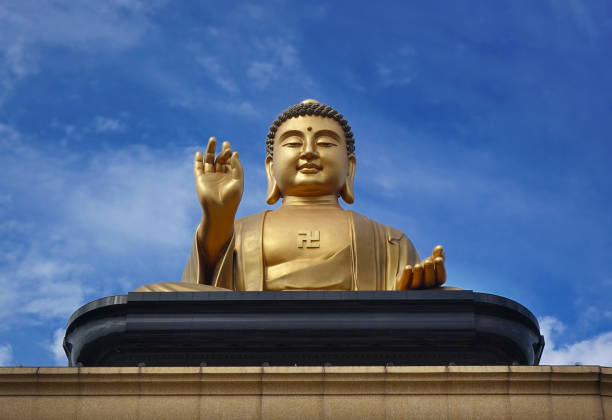 Giant Buddha Statue in Taiwan stock photo