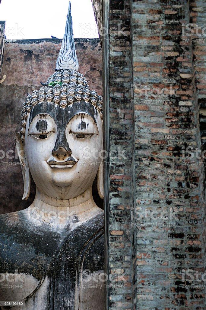 Giant Buddha Statue in Wat Si Chum stock photo
