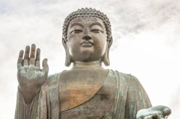 giant buddha statue - buddha stock photos and pictures