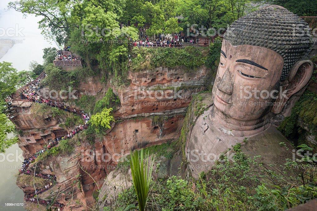 Giant Budha of Leishan stock photo
