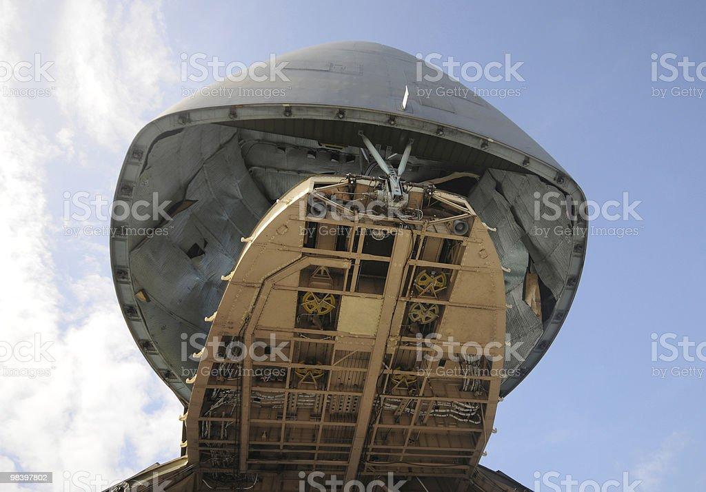 Giant cargo airplane royalty-free stock photo