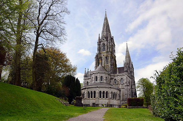 giant cathedral in the Cork city in Ireland stock photo